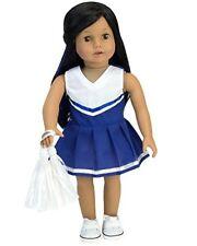 18 inch doll Blue Cheerleading Dress 2pc Set Fits 18 Inch American Girl Dolls