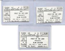 "ALAN JACKSON. ""3"" TICKET STUBS. FEB.3,1995. THE PALACE. AUBURN HILLS, MI."