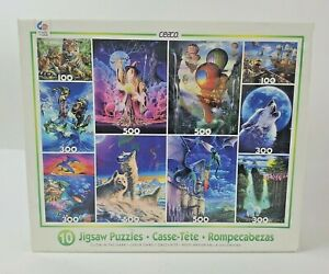 Ceaco 10 Glow in The Dark Jigsaw Puzzles Sealed Made in The USA