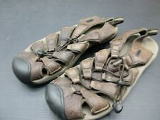 Keen Size 10.5 Mens Brown Leather Non Marking Outsole Sporty Sandals Shoes 3E
