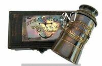 Brass Telescope with Box Antique Finish Nautical Maritime Spyglass Telescope