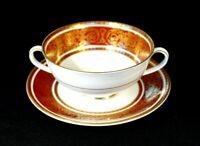 Beautiful Royal Doulton Buckingham Cream Soup Bowl And Saucer