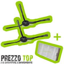 Spazzole + Filtro Hepa Ariete Briciola 2711 2712 2713 2717 Robot Aspirapolvere