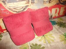 CHARTER CLUB SPICE RED TERRY (PAIR) HAND TOWELS 15 X 25