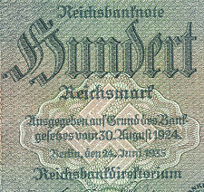 WW2 ORIGINAL NAZI Germany Third Reichs Banknote 100 Reichsmark 1935/E