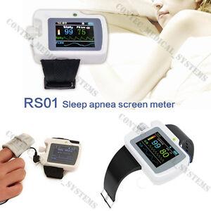RS01 Sleep Apnea Monitor 24hr Respiratory SpO2 Meter Recorder, Alarm,PC Software