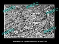 OLD 6 X 4 HISTORIC PHOTO OF CANTERBURY KENT ENGLAND AERIAL VIEW OF TOWN c1950 6