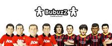Official BARCELONA & MAN UTD BuBuzz Plush Toy Doll - Messi / Neymar / Rooney etc