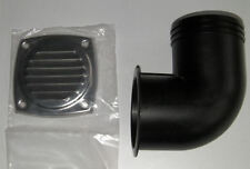4 INCH BOAT BILGE BLOWER PIPE 90 DEGREE BEND WITH STAINLESS VENT COVER
