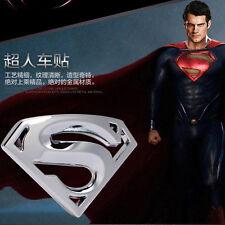 1 Pcs Chrome Superman Logo 3D Metal Auto Car Emblem Badge Bonnet Sticker Decal
