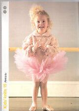 Childrens Knitting Pattern-Maglia per bambini 15-rosa TU-TU-PHILDAR distensione