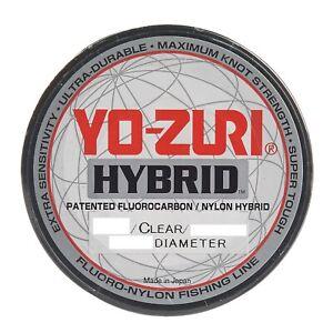 YO-ZURI Hybrid Fishing Line~Clear Flurocarbon & Nylon~275yd~FREE Shipping