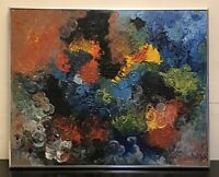 """Vintage  Colorful Oil Painting 29 3/4""""x 23 1/2"""""""