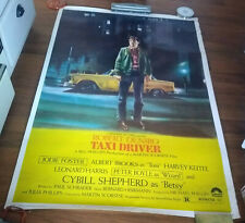 "TAXI DRIVER_ORIGINAL_1976_LARGE_MOVIE POSTER_40"" x 60""_ROBERT DeNIRO_JODI FOSTER"