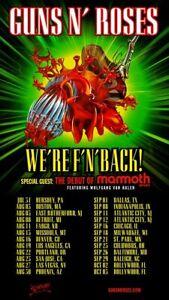 Gun N' Rose 2021 Tour Poster   Unframed Paper Posters