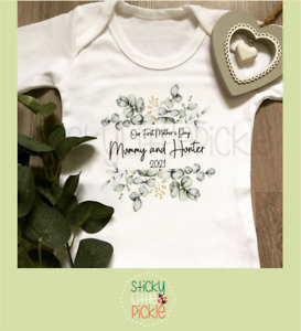 Personalised 1st Mother's Day baby grow babygrow sleepsuit first mothers day - 2
