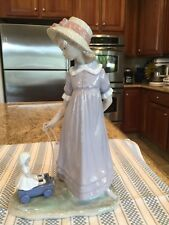 Lladro 5044 Pulling Dolls Carriage - Mint Condition