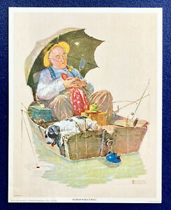 Iconic Norman Rockwell Prints / 'Gone Fishing' / 'The Runaway' / 'The Gossips'