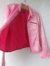 Bliss By Sonia Karadimos sz 12 Pink Cream Animal Pattern Zip Dress Jacket AS NEW