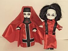 RARE Living Dead Dolls Mini Red Sinister Minster & Bad Habit from Mausoleum Set