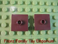 New Lego 2x2 Tile Lot of 2 Black Plate with Jumper Stud Technic Brick Part 3794