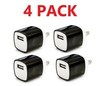 4x Black 1A USB Power Adapter AC Home Wall Charger Plug FOR iPhone Samsung LG
