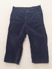 """Janie & Jack """"Aspen Lodge"""" Lined Navy Blue Velveteen Suit Trouser Pants, 18-24 m"""
