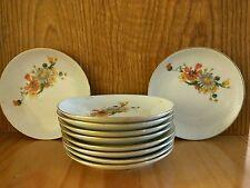 Vintage Tea Saucers White Floral JLMENAU Graf Von Hennenberg-Porzellan Qty 10