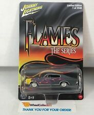 1966 Dodge Charger * Johnny Lightning Flames Series 2500 Made * NH1