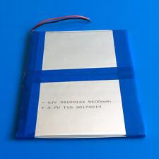 5600mAh 3.7V Li Po Battery for Power Bank Cell Phone Tablet PC PAD 39100124