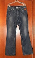 Eddie Bauer Truly Straight Jeans Bootcut Spec Dyed Archive Wash Women's Size 12