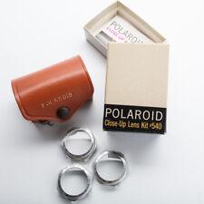 Vintage POLAROID Close-up Lens Kit 540 Case 3 Lenses Tape Measure