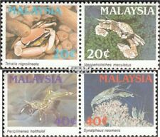 Malaysia 396-399 Couples mint never hinged mnh 1989 Crabs