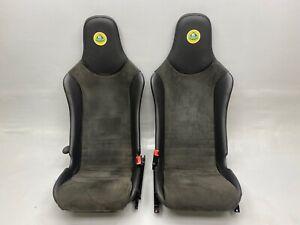 GENUINE LOTUS ELISE EXIGE BLACK LEATHER ALCANTARA SEATS PAIR mazda mx5 kit car