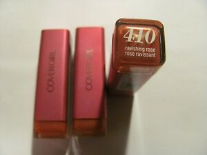 Covergirl Colorlicious Lipstick # 410 Ravishing Rose Lot of 3
