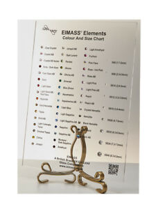 1440 x EIMASS® 7787 Range Flat Back Non Hot Fix Glass Crystals, 48 Colours