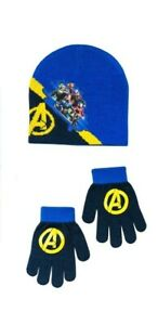 Marvel Avengers Youth Boys 2 Piece Beanie Hat and Gloves Set