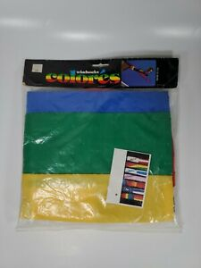 Rare VTG 80s 90s Rainbow Windsock Pride Kings Island Made in USA Nylon LARGE