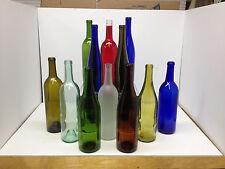 12 Assorted Color Bottles for Bottle Trees, Garden Decor -Red Blue Cobalt Yellow