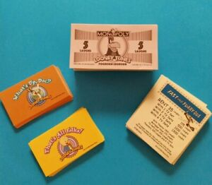 """Looney Tunes Monopoly -  Replacement Parts """"Play Money"""" Deed Cards What's Up Doc"""