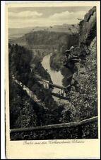 Wolkenstein Sachsen DDR AK 1961 Partie aus der Wolkensteiner Schweiz gelaufen