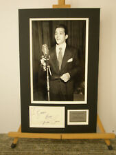Perry Como signed & mounted AFTAL