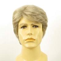 Perruque homme 100% cheveux naturel blanc méché gris OLIVIER 51