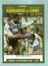 1991  KANGAROO TOUR RUGBY LEAGUE CARD #175  ELLERY HANLEY