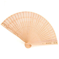 24pk Sandalwood Fan Favor Fans Wedding Bridal Shower Gift Favors  Natural Brown