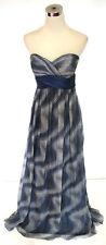 NWT Morrell Maxie $420 Gray /Blue Ball Wedding Gown 10