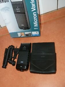 Braun Rasierer -Micron Vario 3  Akku-Netzrasierer  mit Reise Leder Etui  und OVP