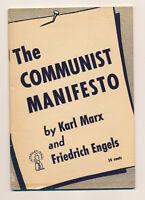 Original 1948 THE COMMUNIST MANIFESTO 10 Cent Cover Early Vintage KARL MARX