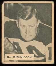 1937-38 World Wide Gum Ice Kings Hockey #66 BUN COOK HOF N Y Rangers Bruins Card