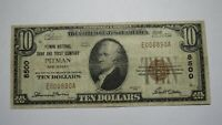 $10 1929 Pitman New Jersey NJ National Currency Bank Note Bill Ch. #8500 FINE!